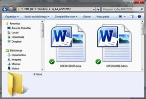Documentos sincronizados (Foto: Reprodução)
