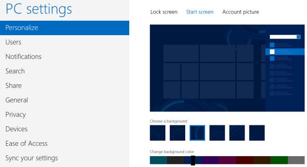 Personalizando o fundo da StartScreen (Foto: Reprodução/Helito Bijora)
