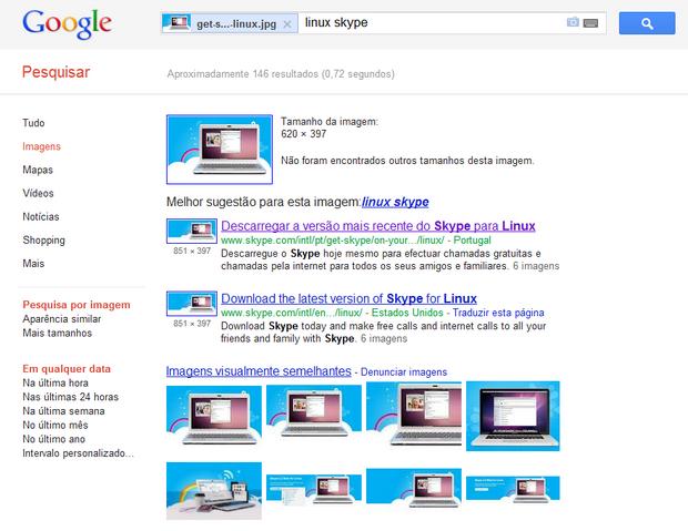 Lista de sites utilizando a imagem de exemplo (Foto: Reprodução/Paulo Higa)