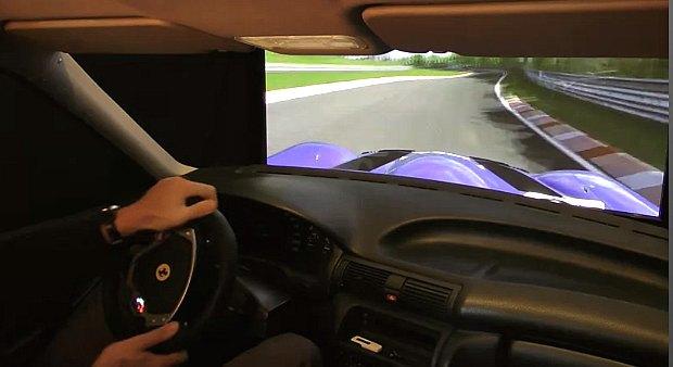 Cockpit do alemão usa peças do Astra, da Chevrolet (Foto: Reprodução)