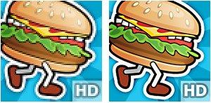 Comparação da resolução dos ícones (Foto: Divulgação)