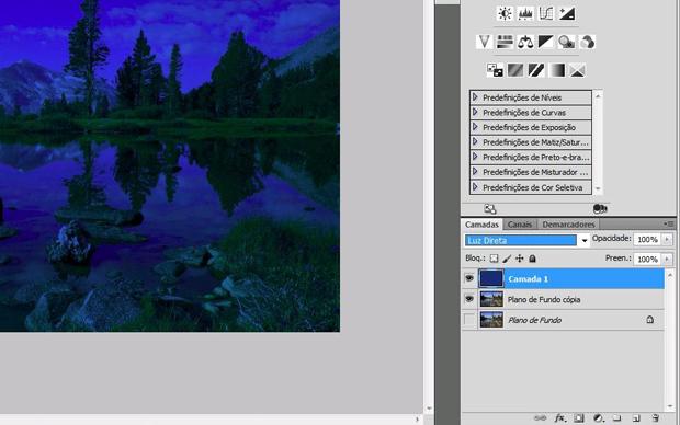Trasnformando dia e noite no Photoshop (Foto: Reprodução/Isabela Catão)