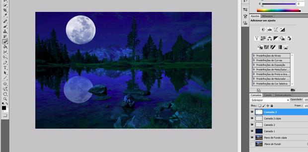 Transformando dia e noite no Photoshop (Foto: Reprodução/Isabela Catão)