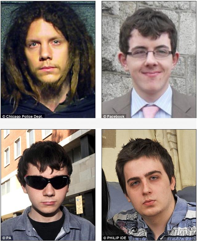 Membros ativistas hackers do grupo LulzSec entregados à polícia (Foto: Reprodução)