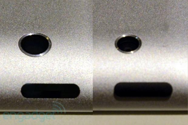 Comparativo das lentes: novo iPad (esquerda) e iPad 2 (direita) (Foto: M.I.C. Gadget/Engadget)