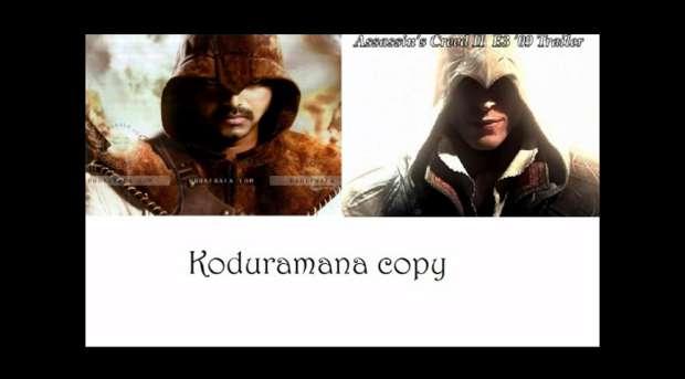 Comparação entre Velayudham e Ezio Auditore (Foto: Reprodução)