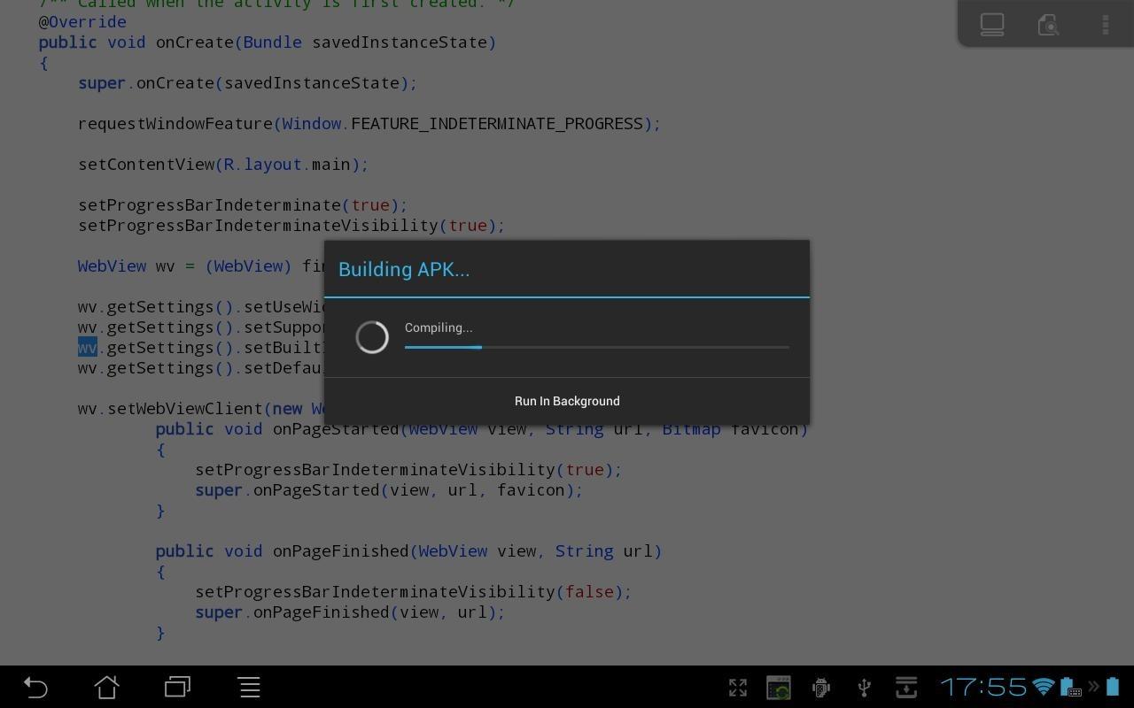 O programa AIDE permite o que nenhum outro faz: a criação de outros aplicativos em dispositivos Android (Foto: Divulgação)