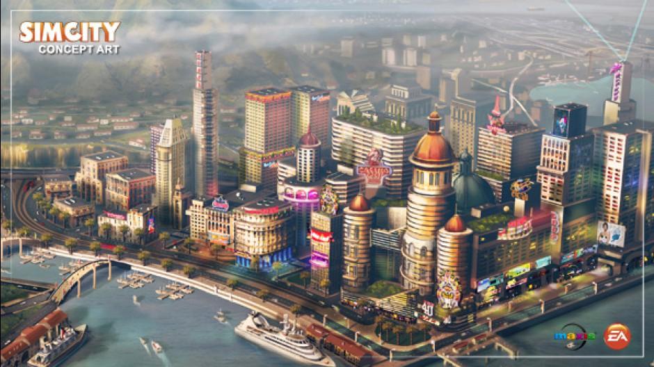 Arte conceitual do novo SimCity (Foto: Divulgação)