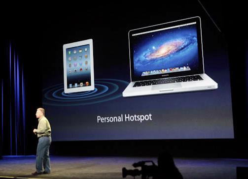 Phil Schiller fala sobre a função Personal Hotspot (Foto: Reprodução/CNet)