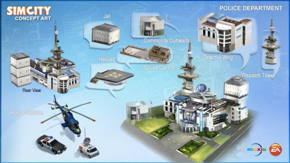 Construção de prédios dinâmicos no novo SimCity (Foto: Divulgação)
