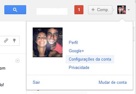 Configurações de Conta do Google+ (Foto: Reprodução)