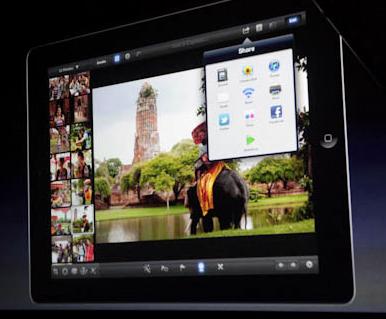 Novo iPhoto para iPad (Foto: Reprodução/CNet)