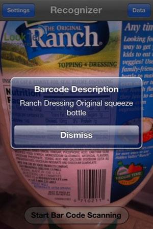 Aplicativo consegue também identificar objetos a partir do código de barras (Foto: Reprodução)