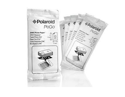 O pacote do papel para a câmera Polaroid PoGo que integra a técnica Zink (Foto: Reprodução/Monique Mansur)