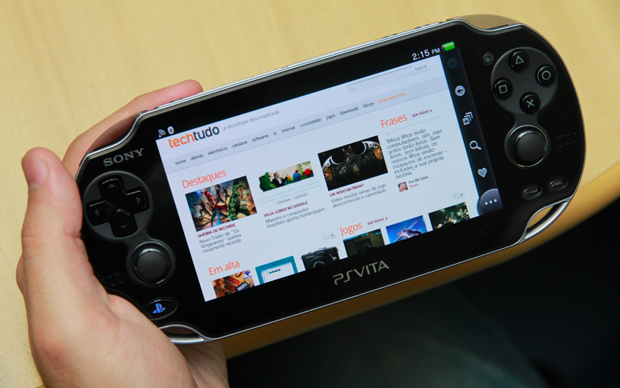 PS Vita (Foto: Allan Melo / TechTudo)
