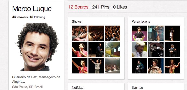 Marco Luque, utiliza a rede social para divulgar seus trabalhos (Foto: Reprodução/Pinterest)