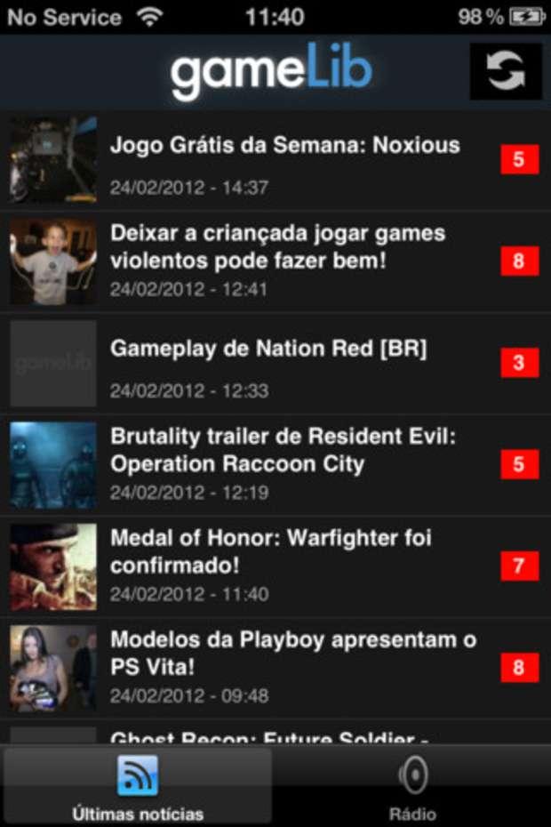 Aplicativo do Portal gameLib (Foto: Divulgação)