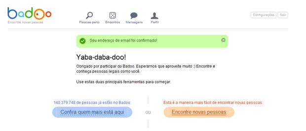 Iniciando buscas no Badoo (Foto: Aline Jesus/ Reprodução)