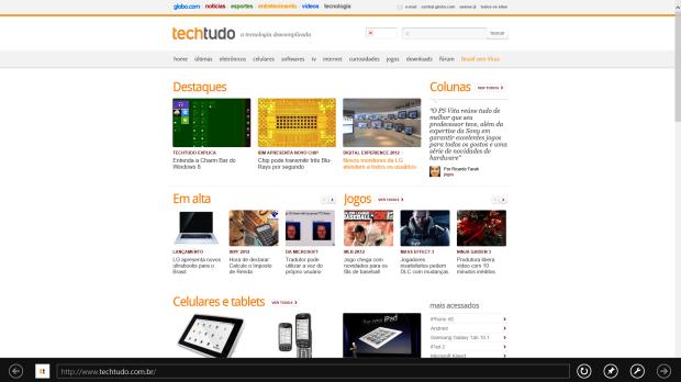 Acesse sua página favorita pelo Internet Explorer (Foto: Reprodução/Júlio Monteiro)