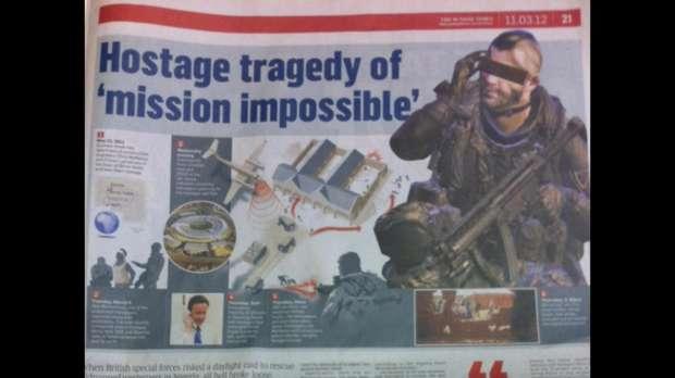 Jornal britânico ilustra tragédia com imagem de Call of Duty (Foto: Reprodução)