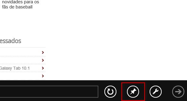 Selecione a opção representada pelo ícone de uma taxinha, que se encontra na barra de navegação (Foto: Reprodução/Júlio Monteiro)