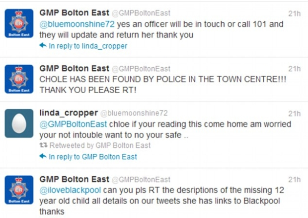 Mãe só ficou sabendo que sua filha desaparecida foi encontrada via Twitter (Foto: Reprodução/Twitter)