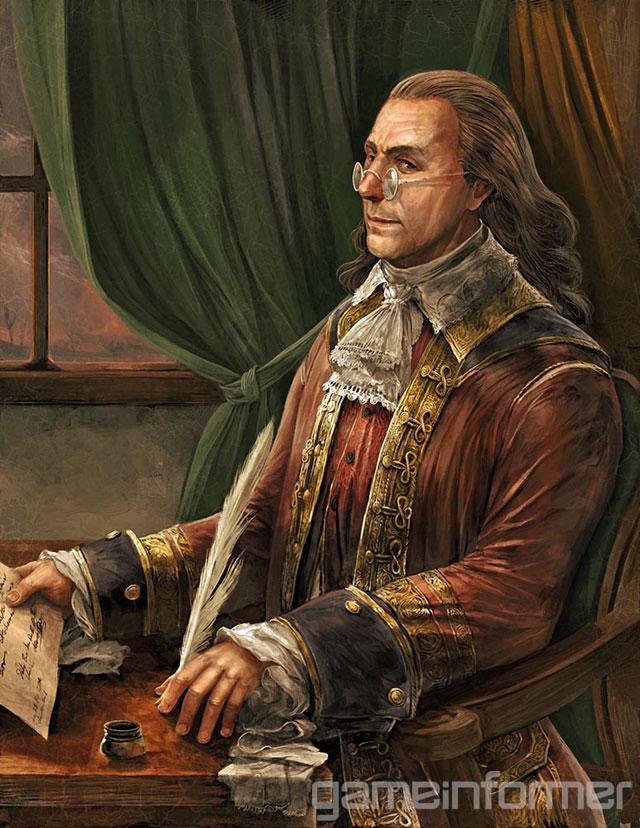 Benjamin Franklin será uma das diversas personalidades presente no jogo (Imagem: Divulgação)