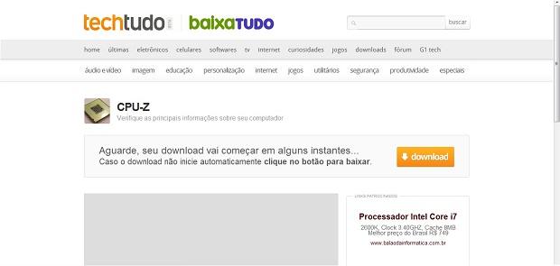Cheque a versão que está sendo baixada e faça o download (Foto: Reprodução/Júlio Monteiro)