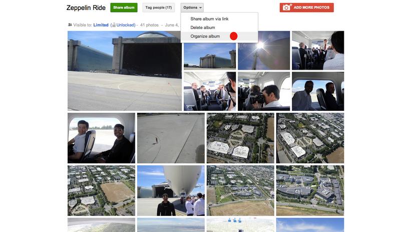 Novo organizador de fotos do Google+ (Foto: Reprodução/Google+)