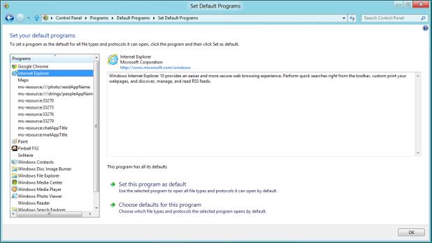 Definindo o IE10 como navegador padrão (Foto: Reprodução/Helito Bijora)