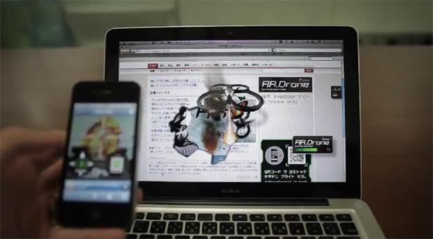 Campanha utiliza AR Drone virtual para divulgar o produto (Foto: Reprodução)