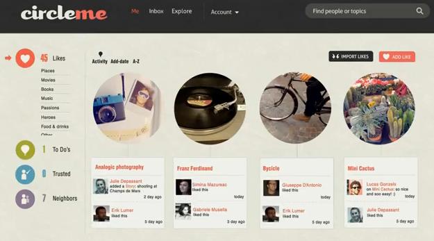 CircleMe reúne conceitos de diversas redes sociais (Foto: Reprodução)