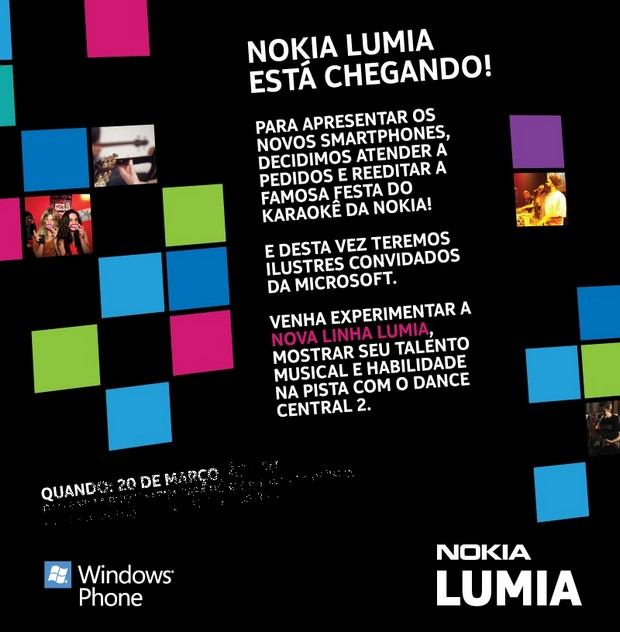 Evento de Lançamento Lumia (Foto: Divulgação)