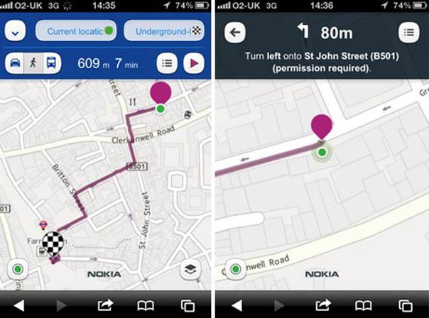 Nokia Maps agora possui recurso de voz (Foto: Reprodução)