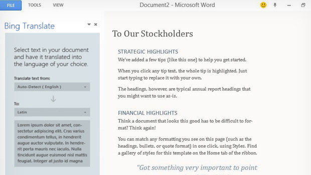 Com os Agaves, Microsoft espera facilitar o trabalho de quem usa o Office (Foto: Reprodução/The Verge)