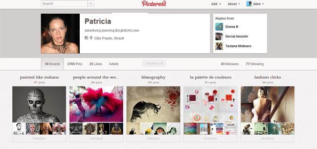 Nova página de perfil do Pinterest já está no ar (Foto: Reprodução)