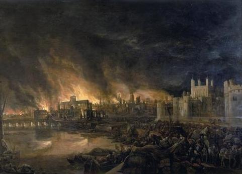 Pintura do Grande Incêndio de Londres (Foto: Reprodução/Wikipédia)