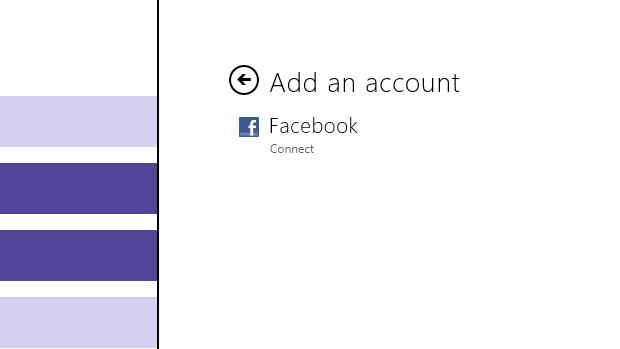 Clique na opção Facebook connect para vincular sua rede social ao aplicativo Messagin (Foto: Reprodução/Júlio Monteiro)