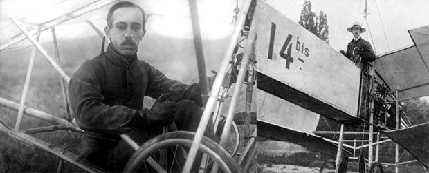 Figura 05 - Santos Dumont e seu 14 Bis