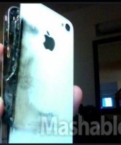 Foto mostra o iPhone 4 queimado (Foto: Reprodução/Mashable)