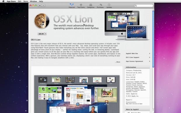Baixando o Lion na Mac App Store (Foto: Reprodução Edivaldo Brito)