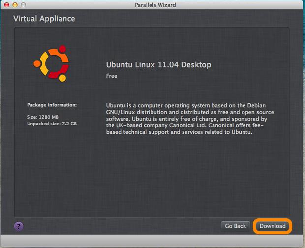 Confirmação de download do Ubuntu.
