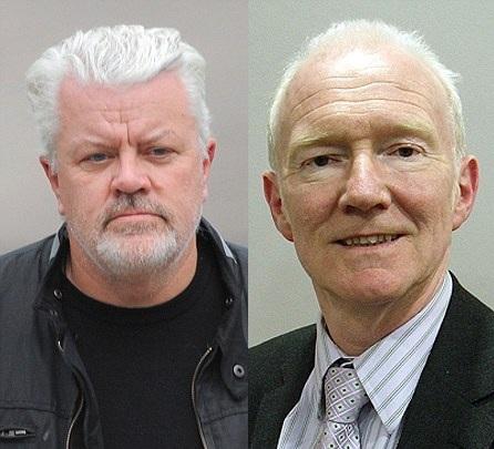 Adrian Smith, esquerda, e o chefe, David Borrow, à esquerda (Foto: Reprodução/Daily Mail)