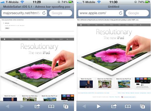 Novo bug no iOS compromete veracidade das páginas abertas no navegador (Foto: Reprodução)