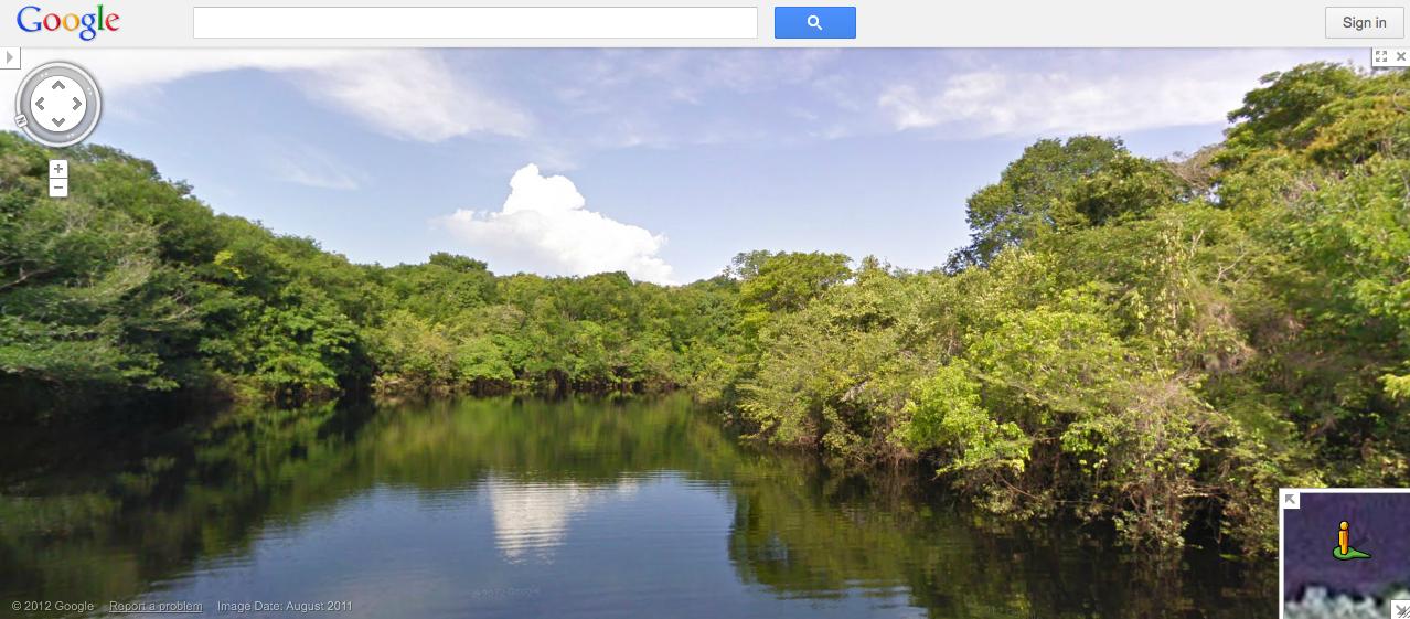 Google Street View nos rios da Amazônia (Foto: Reprodução/Google Street View)
