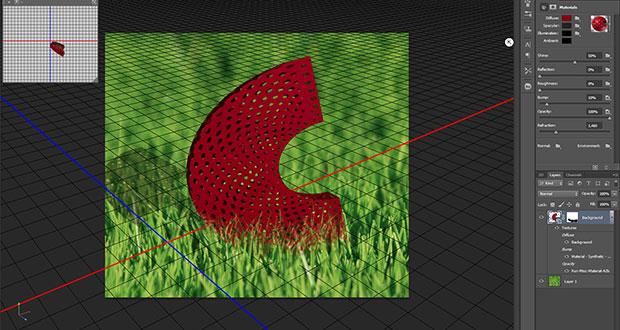 Edição de elementos 3D, função adicionada na versão beta do Photoshop CS6 (Foto: Reprodução)