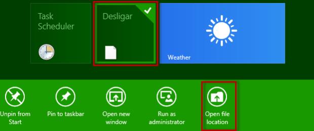 """Clique com o botão direito do mouse sobre a tile e selecione a opção """"Open file location"""" (Foto: Reprodução/Julio Monteiro)"""