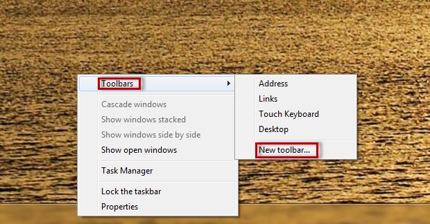 """Selecione """"Toolbars"""" e depois """"New toolbar"""" para criar o substituto  (Foto: Reprodução/Julio Monteiro)"""