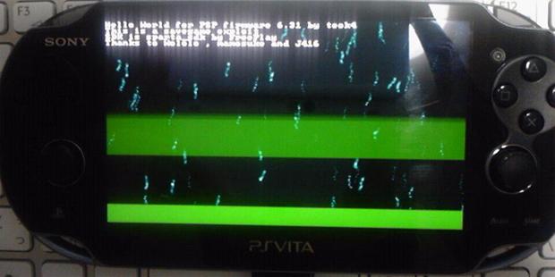 Homebrew rodando no PlayStation Vita (Foto: Reprodução) (Foto: Homebrew rodando no PlayStation Vita (Foto: Reprodução))