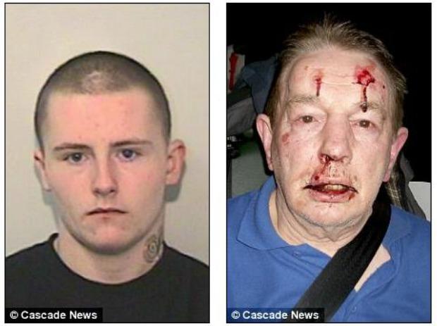 Jovem agrediu senhor e se gabou pelo Facebook (Foto: Reprodução/Daily Mail)